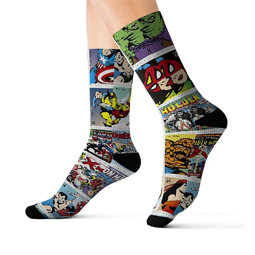 Marvel Comic Cover Dress Socks
