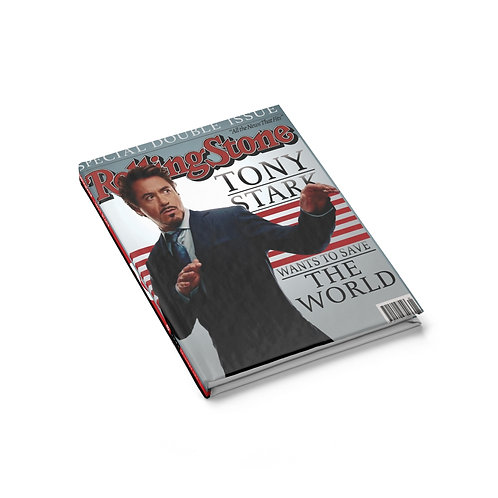 Rolling Stone Tony Stark Cover Ruled Journal