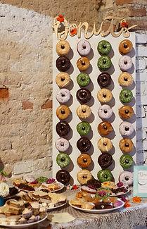 hipster wedding donuts veganské donuty