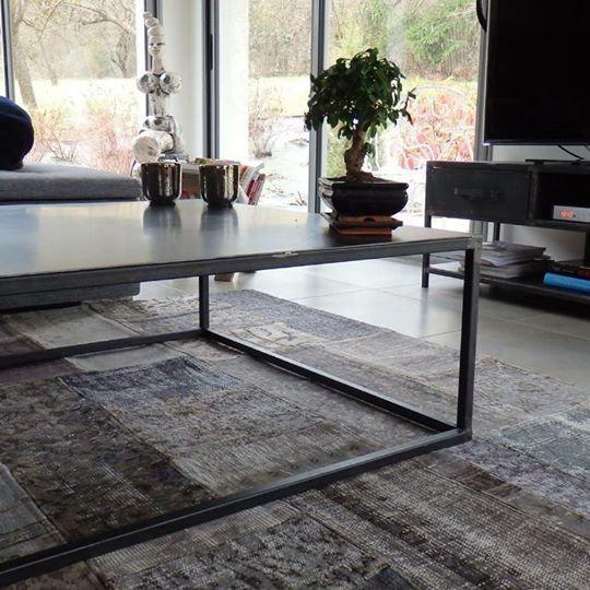 Table basse acier réf002