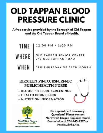 Old Tappan Blood Pressure Clinic