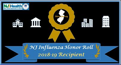 NJ Influenza Honor Roll Award NWRHC