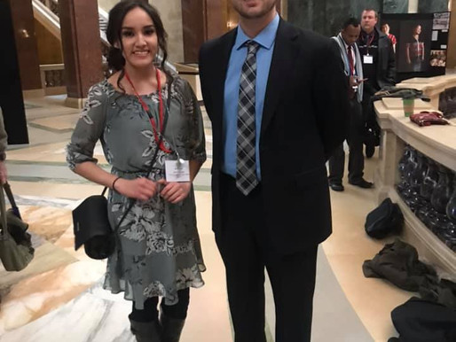 LCO Student Spends Day in Madison Lobbying for H-O-N