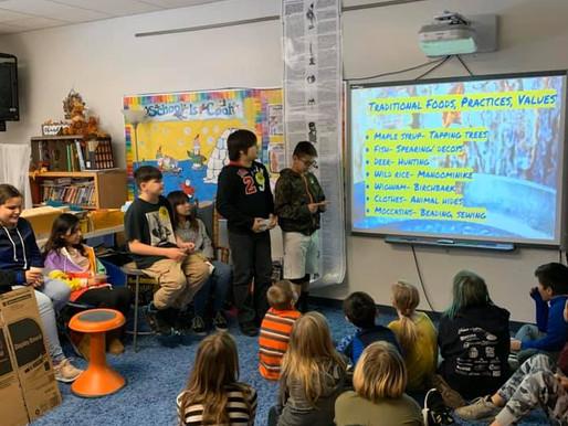 LCO Students Share Treaty Knowledge with Hayward 4th Graders