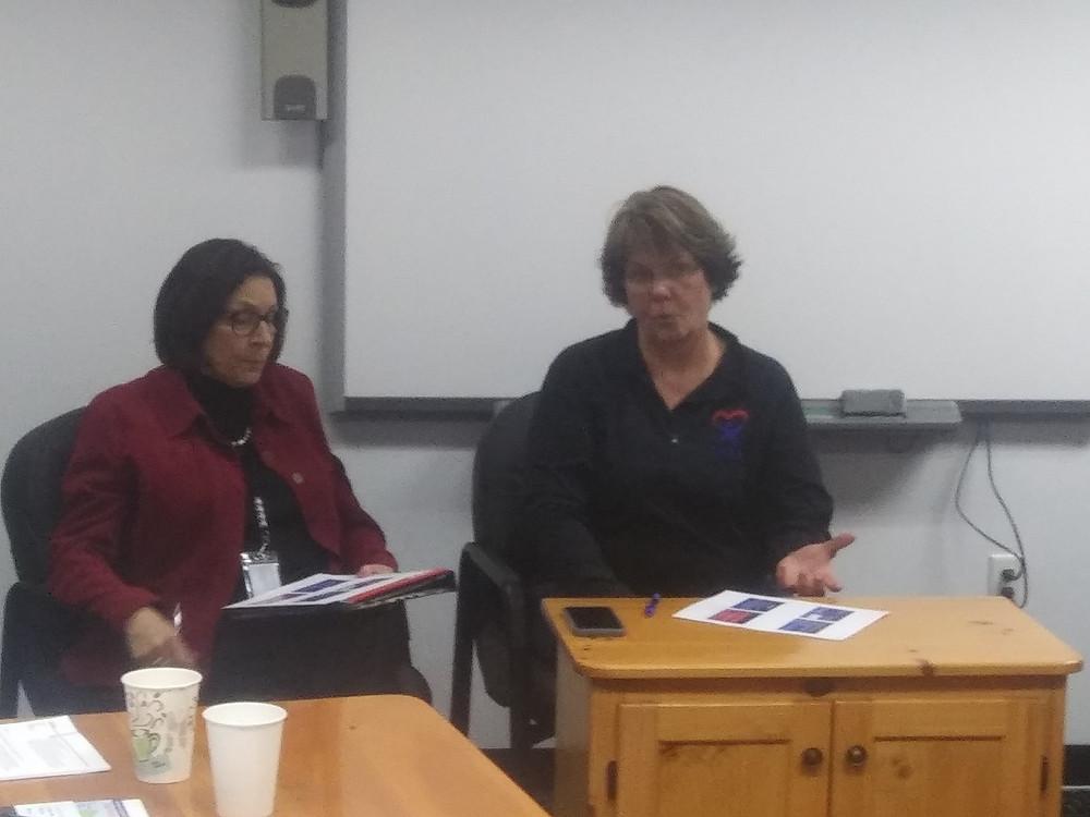 Judge Elaine Smith (left) with Sue Schwartz