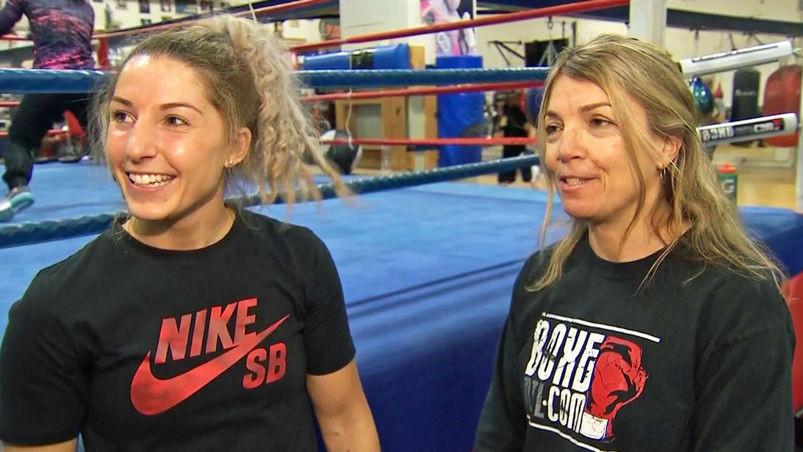 Kim Clavel avec son entraineuse Danielle Bouchard