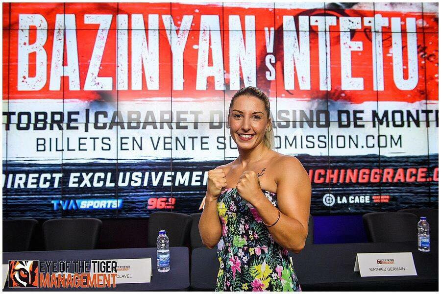 Kim Clavel is ready for her fight against mexican Cinthia Martinez