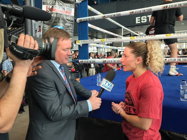 Entrevue de Kim Clavel la boxeuse avec TVA Sports
