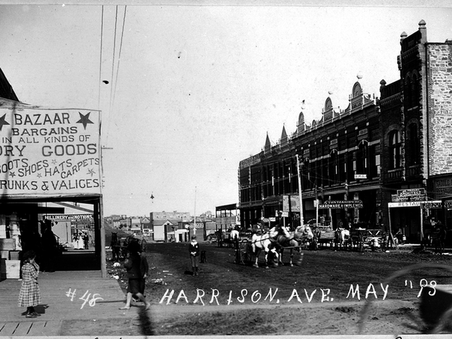 Boom Town! May 1893 Harrison Avenue, Guthrie Oklahoma Public Domain Pic