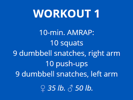 Home Workout: Support your box!