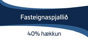 40% hækkun á fasteignamarkaði