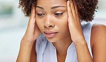 Image of worried looking woman