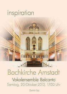 inspiration Bachkirche Arnstadt 2012