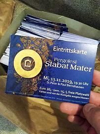 Eintrittskarte Stabat Mater