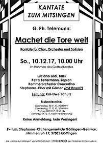 Kantate zum Mitsingen Stephanuskirche Göttingen 2017