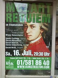 Plakat Mozart-Requiem Wien Stephansdom 2016