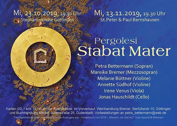 Pergolesi - Stabat Mater - Plakat