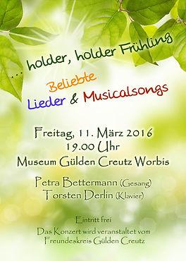 Liederabend Worbis Museum Gülden Creutz 2016