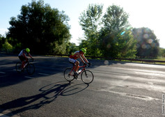 Bicyclists in Late Afternoon Sun 684(2).