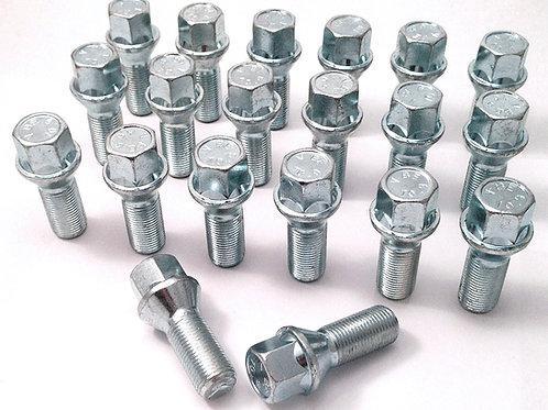 Silver wheel bolts