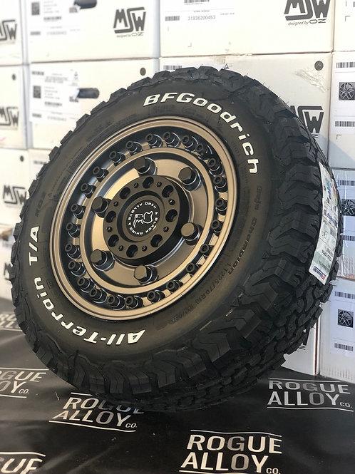 "Full set of 4x 16"" Black Rhino Armory alloy wheels"
