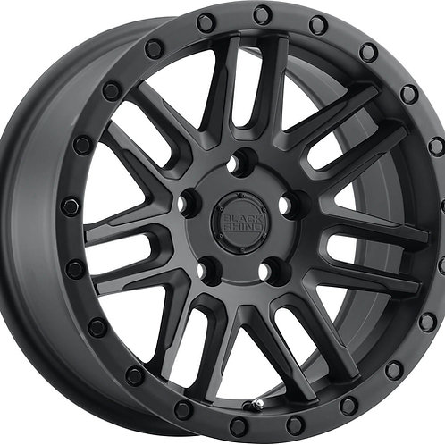 "SET OF 4x 17"" BLACK RHINO ARCHES 5X120 MATT BLACK"