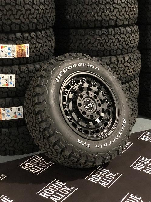"Full set of 4x 16"" Black Rhino Arsenal alloy wheels"