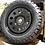 "Thumbnail: 4x 18"" gloss black steel modulars 5x120"