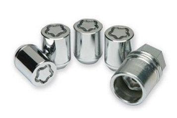 Silver locking nuts