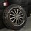 "Thumbnail: Full set of 4x 16"" MSW BLACK POLISHED 6x130"