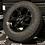 """Thumbnail: 16"""" 5x120 GLOSS BLACK RADAR AT5"""