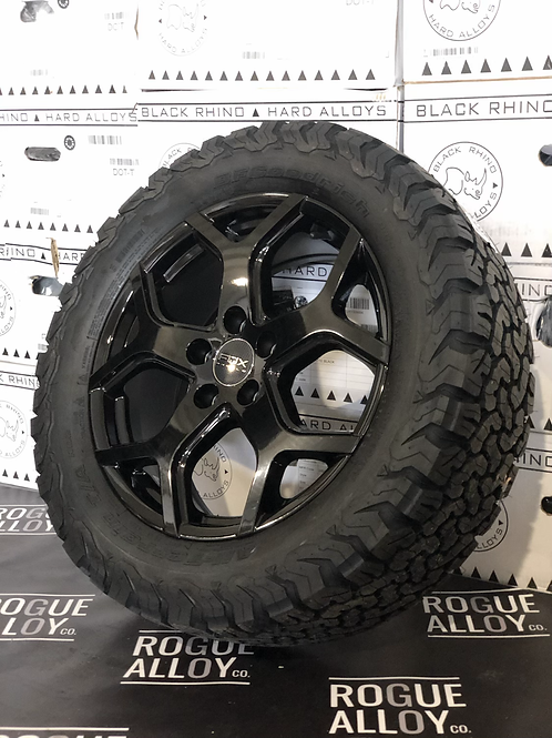 """18"""" Gloss Black 5x118 Load rated"""