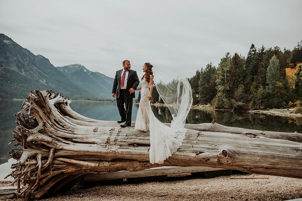 bride, groom, lake wenatchee, first look, browns family homestead venue, Rosendahl photography,  bride and groom portraits , fall wedding