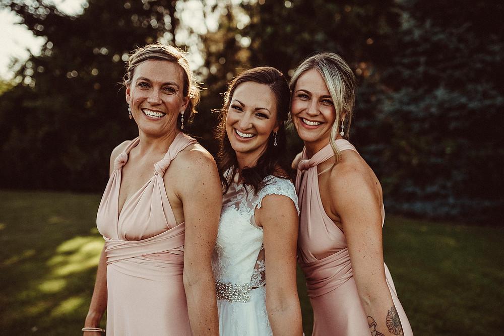 wedding party, bridesmaids, bridal party photos, pnw, pnw wedding photographer, outdoor wedding , lord hill farms
