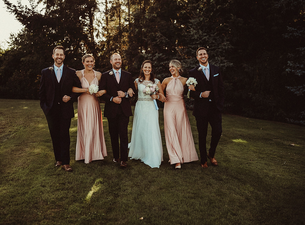 wedding party, bridal party, groomsmen, wedding day, wedding photographer, pnw, pnw wedding, bride and groom, group photos