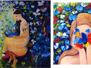 Happy that 2 of my favorite paintings DONATED to Palliative Care at Caloundra Hospital.