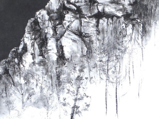Excited & delighted that my charcoal drawing Peter Head Whtsundays has been selected in finalist