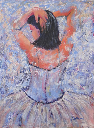 Dancer Waiting in the Wings  Acrylic 60cmx46