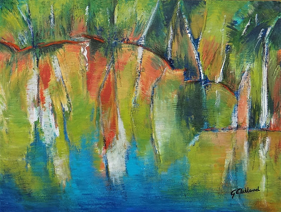 Colours of the Lake  Acrylic on stretched canvas 41cmx51cm