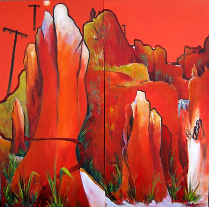 The Old Telegraph Track Cape York oil on canvas 120x120cm