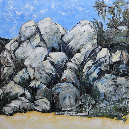 Boulders Magnetic Island  76cmx76cm acrylic on stretched canvas