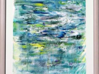 Raindrops Dancing on my Lake