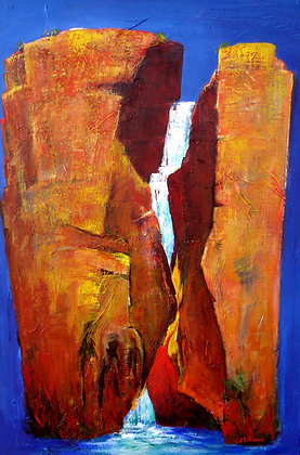 Colours of Australia  acrylic  90cmx60cmn on stretched canvas
