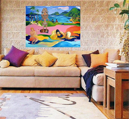 My artis bright & colourful & looks amazing hanging on a wall -it can be yours