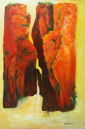 Entrance to the Gorge acrylic on stretched canvas 90cmx60cm READY to HANG