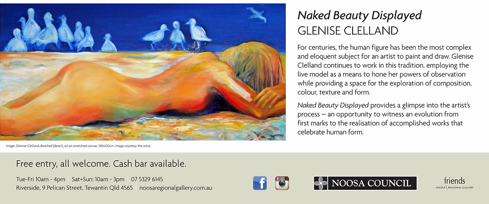 My exhibition at Noosa Regional Gallery -opens 11th May at 6pm - FREE entry all welcome.  An exhibition exploring the first life drawing sketches to the finished paintings