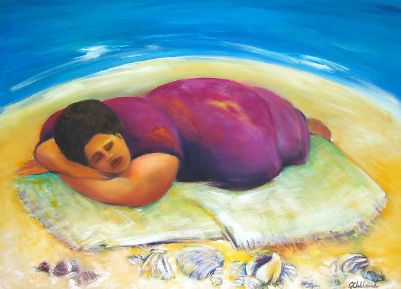 Shell Lady Dreaming   76cmx102cm stretched canvas