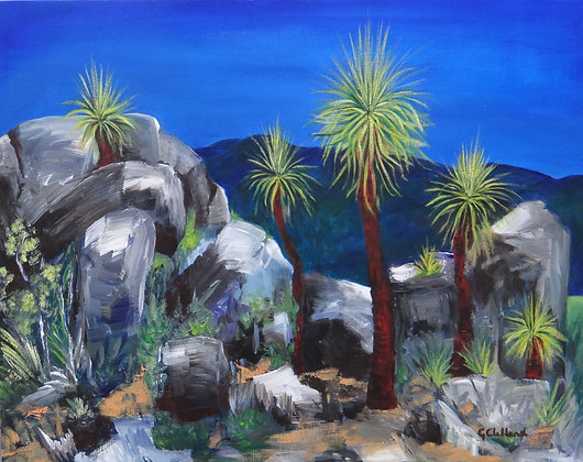 Grass Trees acrylic on stretched canvas 56cm x76cm SOLD