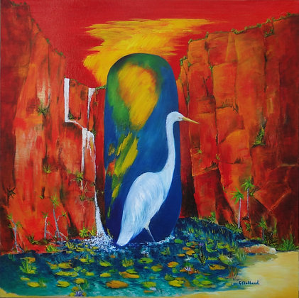 SOLD  Kimberley Waterhole oil on canvas 90cmx90cm