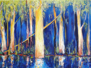 FINALIST in Brisbane Rotary Art Spectacular in May    oil painting 61cmx91cm ready to hang on your w